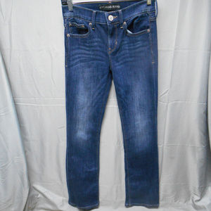 NWOT Express dark wash barely boot jeans 0S